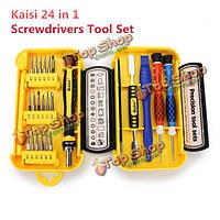 Kaisi 24в1  точности сотовый телефон бытовой ремонт отвертка набор инструментов пинцет
