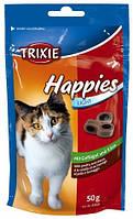 Trixie - 4260 Happies Лакомства для кошек дропсы с курицей и сыром