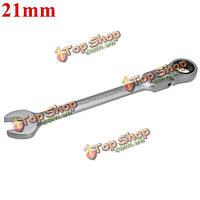 Метрика 21мм хром гибкая головка трещотки действий ключ гаечный ключ инструмент для установки гаек