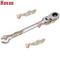 Метрическая 8мм хром гибкая головка трещотки действий ключ гаечный ключ инструмент для установки гаек