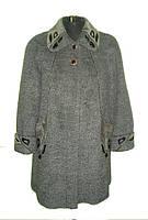 Интересное женское зимнее пальто увеличенных размеров
