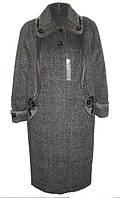 Оригинальное женское зимнее пальто на ватине