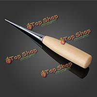 Деревянной ручкой шило кожа шить шилом скорейшего руку брошюровщицы кожаный инструмент
