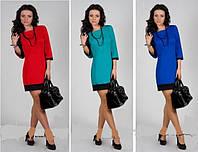 Платье женское с манжетом модное стильное