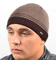 Мужская шапка коричневого цвета