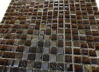 Мозаика для кухни коричневая Vivacer DAF 12 мраморная