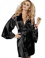 Элегантный сатиновый халат Candy TM Dkaren (Польша) Цвет черный