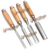 4шт DIY древесины долото набор долото деревообрабатывающий инструмент ручка руки домой резьба