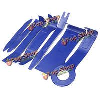 7шт инструменты удаления стерео ремонт синий пластик