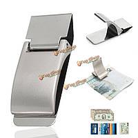 Нержавеющая сталь серебряный зажим зажим для денег подарок бумажник кредитной карты держатель удостоверения личности наличными