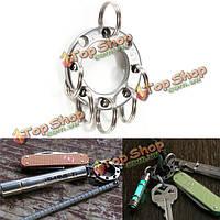 Пряжка металлическая с кольцами для брелков