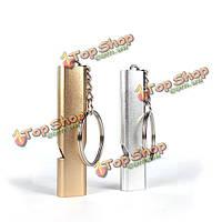 Алюминий аварийно-спасательных свисток отверстия высокочастотный инструмент свистка EDC