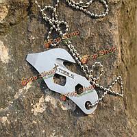 Из нержавеющей стали EDC многофункциональные инструменты для резки шпагата нож отвертки нож для кемпинга