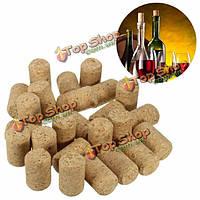 25шт неиспользуемые прямые круглые винная пробка затыкает вина бутылку крышкой
