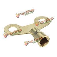 Водопроводный кран квадратное отверстие ключа радиатора сантехника кровоточить ключ латунный