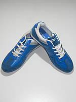 Яркие молодежные кроссовки мужские синие кожзам Sayota размер 42,43,44,45