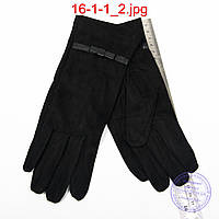 Оптом женские велюровые перчатки без подкладки - №16-1-1, фото 1