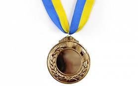 Медаль (заготовка) спорт d-6,5см С-4332-3 бронза
