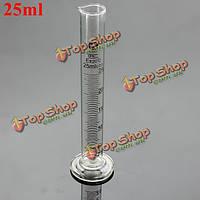 25мл стеклянный градуированный мерный цилиндр пробкой лабораторная посуда