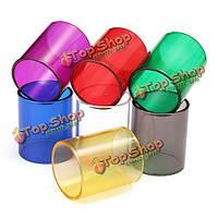 Прозрачный резервуар стеклянная трубка для грифона 25 RTA форсунка многоцветной