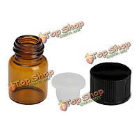 2мл 5/8 янтарного стекла бутылка эфирного масла отверстий редуктора с крышкой