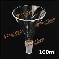 100мл 24/40 совместное стеклянный порошок воронка лабораторная химия изделия из стекла 90мм