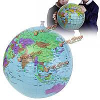 40см надувные мир образование земной шар атлас карта пляжный мяч наука география