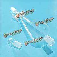500мл 24/40 стекло грушевидные делительную воронку птфэ задвижка стеклянной пробкой трубка