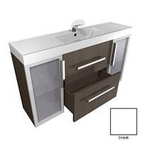 Шкафчик навесной с раковиной из искусственного камня для ванной комнаты производитель Буль-буль модель ШН-82