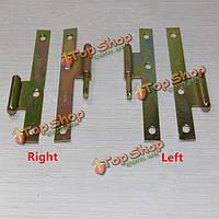1 пара 4-дюйма покрытием ч Тип цвет цинка мебель шарнир двери мебель Место