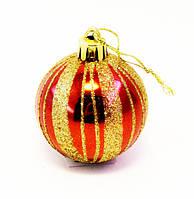 Ёлочная игрушка-шарик-6 шт.-Ø 5,0 см., фото 1