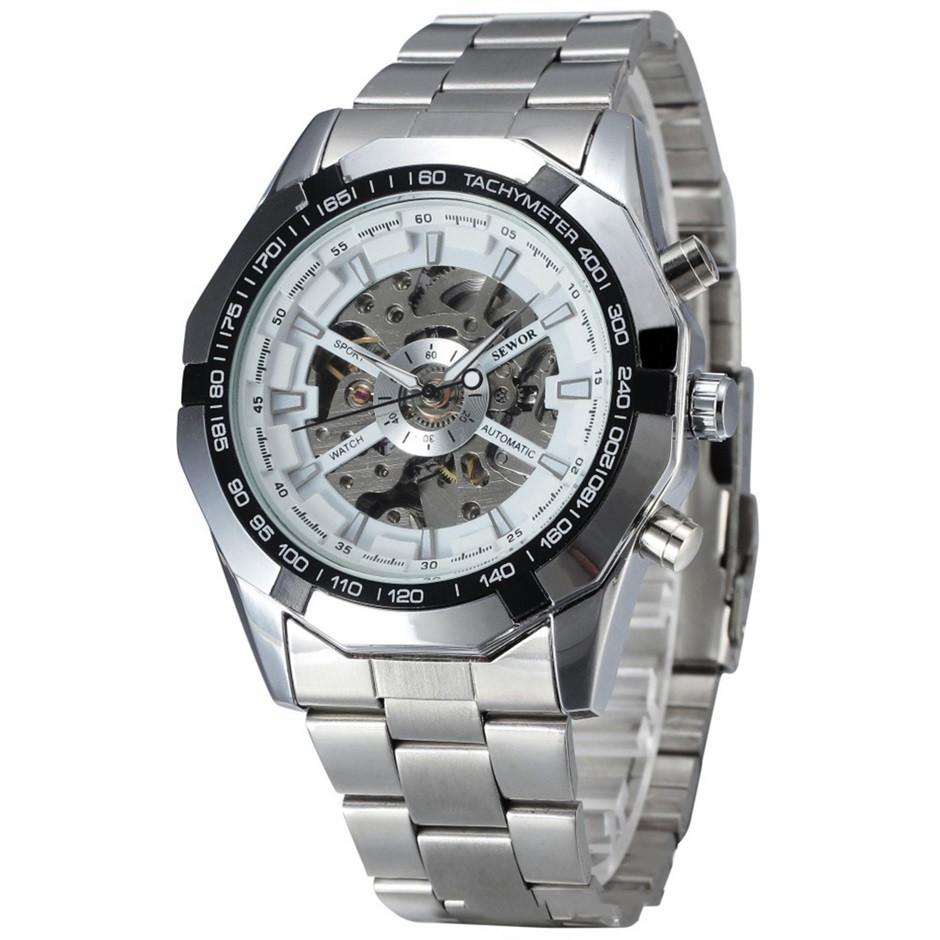 cea80552f038 Мужские механические часы Winner Skeleton с автоподзаводом