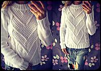 Женский модный вязанный свитер с элементами коса (4 цвета)