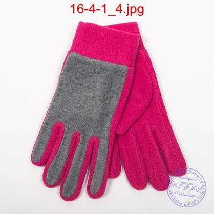 Оптом женские флисовые перчатки - №16-4-1, фото 2