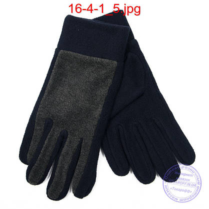 Оптом женские флисовые перчатки - №16-4-1, фото 3