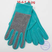 Оптом женские флисовые перчатки - №16-4-1, фото 1