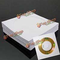 50шт 5-дюймов DVD CD дисков бумажный конверт чехол обложка держатель конверт
