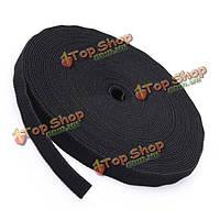 25м черная обвязки кабеля галстук волшебная лента