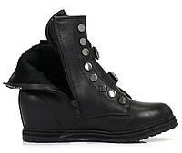 Женские ботинки на платформе, утепленные