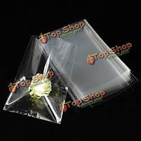 100шт Clear Снэк-целлофановый мешок для подарков шоколадный леденец 12x8см