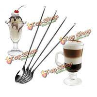 Нержавеющей стали длинной ложкой кофе латте мороженое коктейль совок