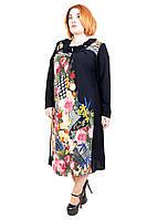 """Красивое  платье большого размера """"Элина"""" (60-66) , фото 1"""