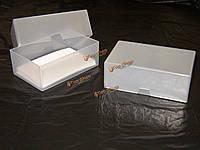 1шт визитных карточек коробки из прозрачного пластика ремесленных части бусин держатель контейнера коробки