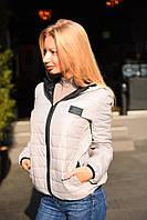 Женская демисезонная куртка ткань плащевка на синтепоне цвет серый