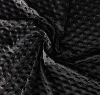 Черный плюш Minky