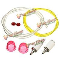 Лампа трубы бензин встроенный фильтр топливный шланг фильтр линия грунтовки 2pcs 60см топлива