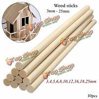 10шт деревянные DIY искусства корабля палочки полюсные стержни сладкий деревья инструмент 30см
