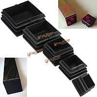 10шт конец пластиковые черный заглушками квадратные вставки для труб коробки труба секции