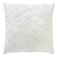 Белая стеганая подушка из силиконового волокна 70х70