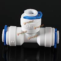 1/4-дюймов труба соединитель фитинга т очиститель воды система обратного осмоса с 3-мя застежками